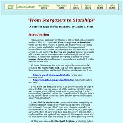 "Introduction to ""Stargazers"" (for Teachers)"
