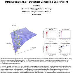 Introduction to Statistical Computing in R