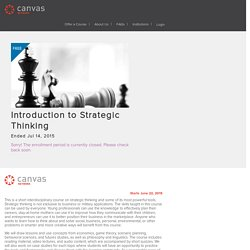 Introduction to Strategic Thinking