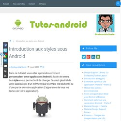 Introduction aux styles sous Android