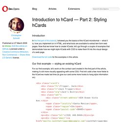 Introduction to hCard, Part two: Styling hCards - Opera Developer Community