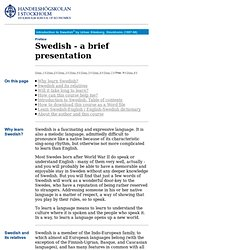Introduction to Swedish - home