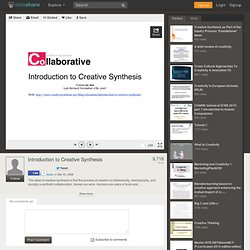 Introduction to Creative Synthesis
