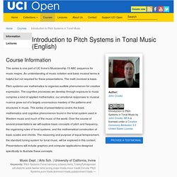 Introduction to Pitch Systems in Tonal Music