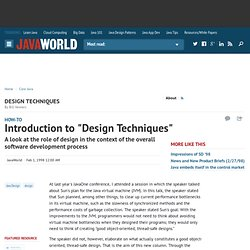 "Introduction to ""Design Techniques"""