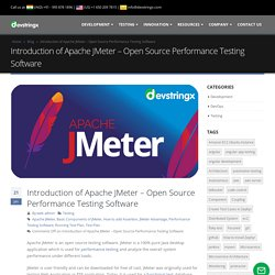 Introduction of Apache JMeter - Open Source Performance Testing Software