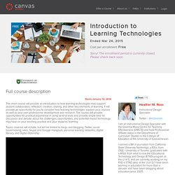 Introduction to Learning Technologies