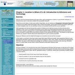 Chapter 1: Location is Where It's At: Introduction to GIScience and Technology