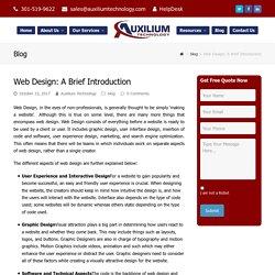 Web Designer: A Brief Introduction - Auxilium Technology