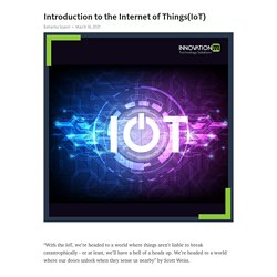 Introduction to the Internet of Things(IoT) – Telegraph