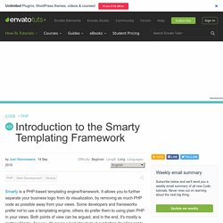 Introduction to the Smarty Templating Framework