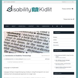 Introduction to Disability Terminology