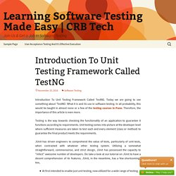 Introduction To Unit Testing Framework Called TestNG