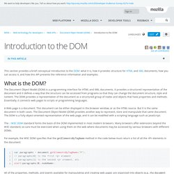 Introduction to the DOM - Web APIs