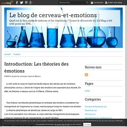 Introduction: Les théories des émotions - Le blog de cerveau-et-emotions