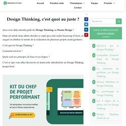 Introduction au design thinking: Le concept selon 4 écoles