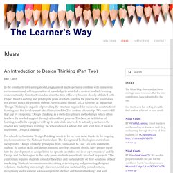 An Introduction to Design Thinking (Part Two)