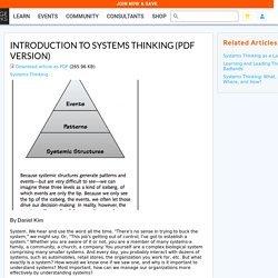Introduction to Systems Thinking (PDF version)