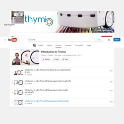 Introduction to Thymio