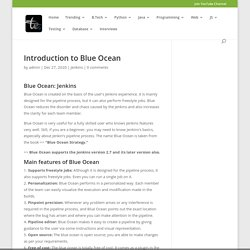 Introduction to Blue Ocean