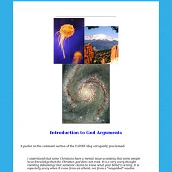 Introduction to God Arguments