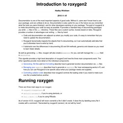Introduction to roxygen2