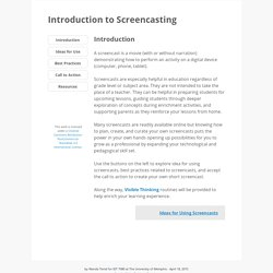 Introduction to Screencasting