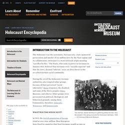 SOURCE #5 Introduction to the Holocaust