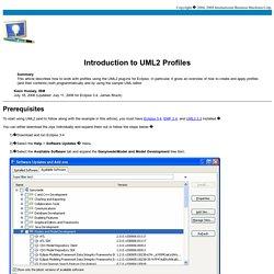 Introduction to UML2 Profiles