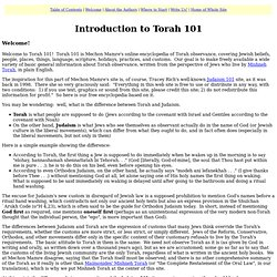 Introduction to Torah 101 / Torah 101 / Mechon Mamre