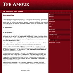 Introduction - Tpe Amour