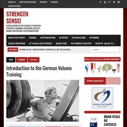 Introduction to the German Volume Training