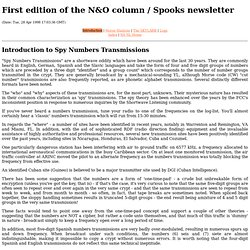 NSNL 1 - Introduction to Spy Numbers Transmissions