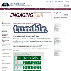 Introduction to Using Tumblr in the Classroom