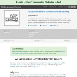 An Introduction to Twitterbots with Tracery
