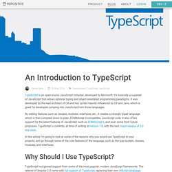 An Introduction to TypeScript Blog