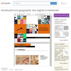 Introduction à la typographie. des origines à maintenant - PDF Free Download