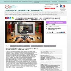 Cours Culture numérique par Hervé Le Crosnier
