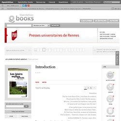 Presses universitaires de Rennes - Introduction