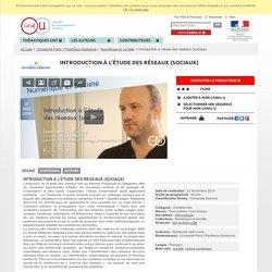 Introduction à l'étude des réseaux (sociaux) - Université Paris 1 Panthéon-Sorbonne