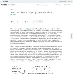 Revit Families: A Step-By-Step Introduction