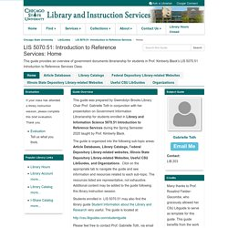 Home - LIS 5070.51: Introduction to Reference Services - LibGuides at Chicago State University