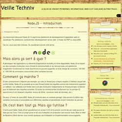 Node.JS – Introduction » Veille Techniv