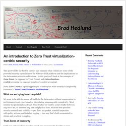 An introduction to Zero Trust virtualization-centric security
