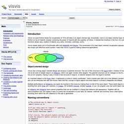 Visvis_basics - visvis - A short introduction to visvis - The object oriented approach to visualization.
