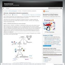 Info-doc : introduction à internet (vocabulaire)