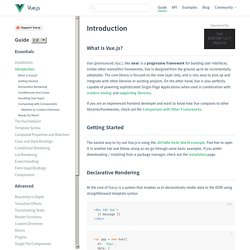 Introduction - vue.js