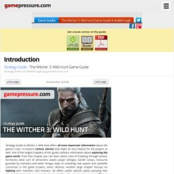 Introduction - Strategy Guide - The Witcher 3: Wild Hunt