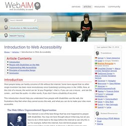 Introduction to Web Accessibility