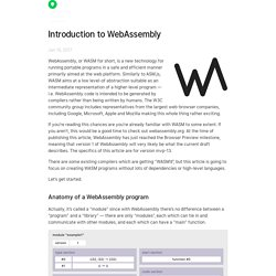 Introduction to WebAssembly — Rasmus Andersson